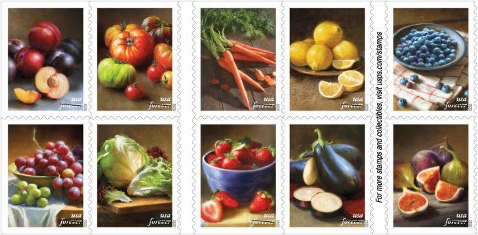 USPS Savoring Fruits and Vegetables Stamps