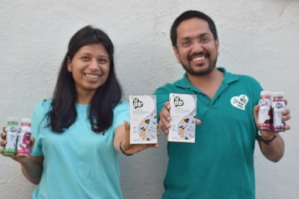 (L to R) Sheta Mittal and Ankur Goyal, Co-founders of &Me | Motiverge