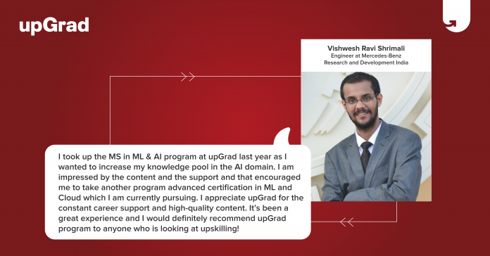 Referral learner testimonial- upGrad