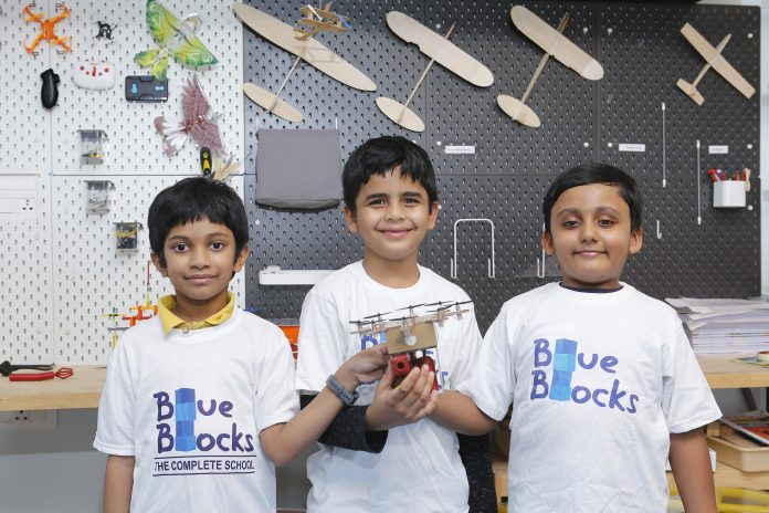Blue Blocks Montessori School files a record 5 patents for student Inventions in Drones | Motiverge