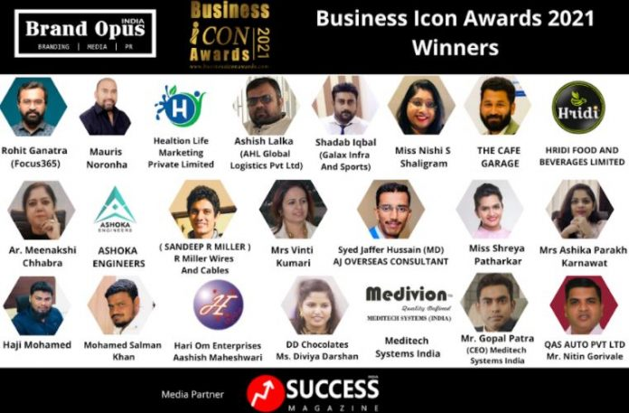 Brand Opus India Announces the Winners of Business Icon Awards - 2021