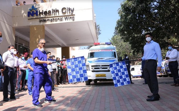 o reduce the time taken to reach the hospital in case of an emergency, Narayana Health City has launched a 24/7 Emergency Network Service.