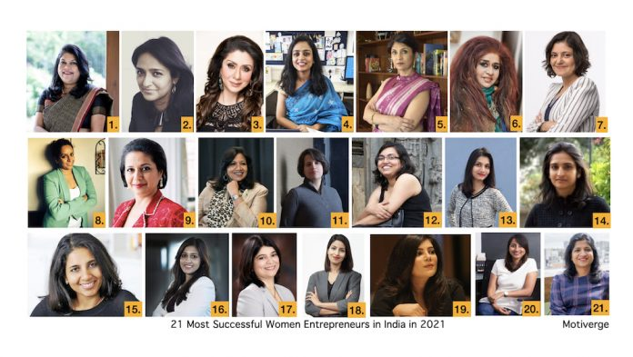21 Most Successful Women Entrepreneurs in India in 2021_Motiverge_Women's Day 2021