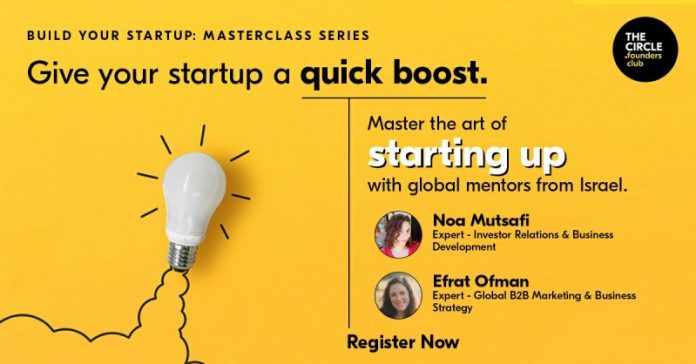 Founders Club Organises 8-week Masterclass Series for Early-stage Start-ups, In partnership with the Embassy of Israel