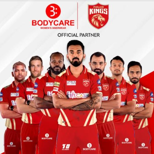 Bodycare Creations Signs on as Official Partner of Punjab Kings for the 2021 Edition of Indian Premier League
