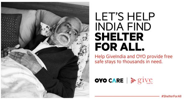 GiveIndia and OYO Care Launch #ShelterForAll; Shelter for Underprivileged During COVID-19 Recovery