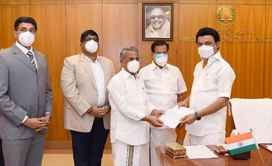 RMK Group of Institutions Donates Rs. 1.08 Crore to TN Government for COVID-19 Fight