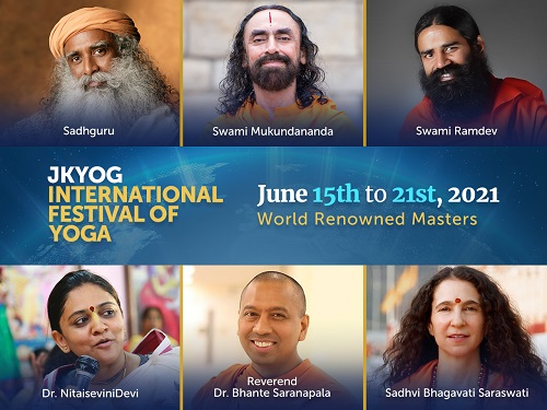 World Renowned Masters, Wellness Pioneers at JKYog International Festival of Yoga 2021