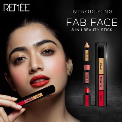 One Makeup Stick for Eyes, Cheeks and Lips - RENEE Launches Revolutionary FAB FACE with Rashmika Mandanna and Shruti Haasan